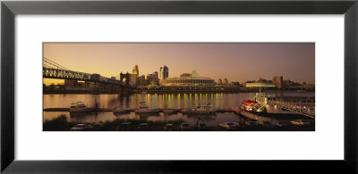 Buildings Lit Up At Dusk, Cincinnati, Ohio, Usa by Panoramic Images Pricing Limited Edition Print image