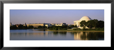 Memorial Building At Dusk, Jefferson Memorial, Washington D.C., Usa by Panoramic Images Pricing Limited Edition Print image