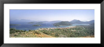 Coastline, Lefkas Island, Greece by Panoramic Images Pricing Limited Edition Print image