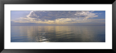 Reflection Of Clouds In A Lake, Lake Michigan, Michigan, Usa by Panoramic Images Pricing Limited Edition Print image