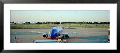 Airplane At The Airport, Midway Airport, Chicago, Illinois, Usa by Panoramic Images Pricing Limited Edition Print image