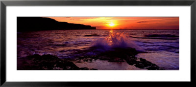 Wave Breaking On Rocks, Bempton, Yorkshire, England, United Kingdom by Panoramic Images Pricing Limited Edition Print image