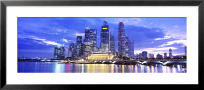 Evening, Singapore by Panoramic Images Pricing Limited Edition Print image