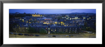 High Angle View Of A City At Dusk, Edinburgh, Scotland, United Kingdom by Panoramic Images Pricing Limited Edition Print image