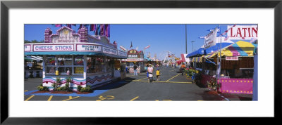 Market Stalls In An Amusement Park, Erie County Fair And Exposition, Erie County, Hamburg, Ny, Usa by Panoramic Images Pricing Limited Edition Print image