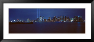 Lower Manhattan, Beams Of Light, New York City, New York State, Usa by Panoramic Images Pricing Limited Edition Print image