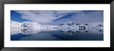 Reflection Of Snowcapped Mountain In The Water, Paradise Bay, Antarctica by Panoramic Images Pricing Limited Edition Print image