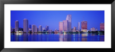Dusk, Miami Florida, Usa by Panoramic Images Pricing Limited Edition Print image