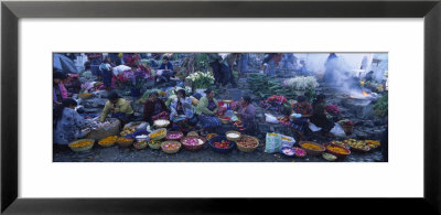 High Angle View Of A Group Of People In A Vegetable Market, Solola, Guatemala by Panoramic Images Pricing Limited Edition Print image