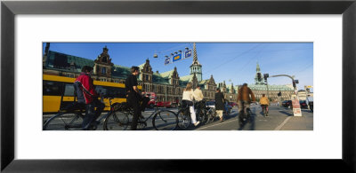Group Of People Riding Bicycles, Copenhagen, Denmark by Panoramic Images Pricing Limited Edition Print image