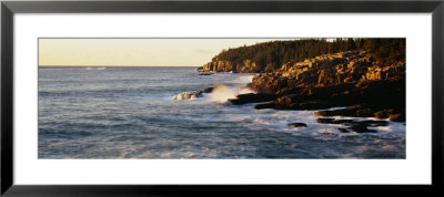 Waves Breaking Against The Rocks, Otter Beach, Acadia National Park, Maine, New England, Uk, Usa by Panoramic Images Pricing Limited Edition Print image