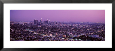 Sunset, Los Angeles, California, Usa by Panoramic Images Pricing Limited Edition Print image