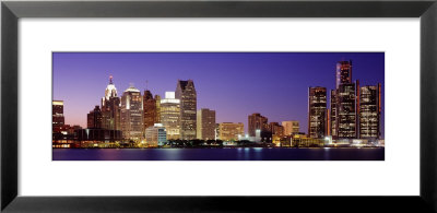 Dusk Detroit, Michigan, Usa by Panoramic Images Pricing Limited Edition Print image