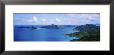 Water, Ocean, Panoramic View Of An Island, Tortola, British Virgin Islands by Panoramic Images Pricing Limited Edition Print image