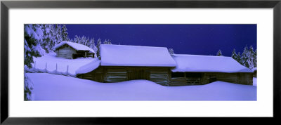 Winter Twilight, Dalarna, Sweden by Panoramic Images Pricing Limited Edition Print image