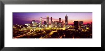 Night, Atlanta, Georgia, Usa by Panoramic Images Pricing Limited Edition Print image