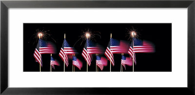 Us Flags And Fireworks by Panoramic Images Pricing Limited Edition Print image