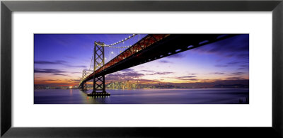 Twilight, Bay Bridge, San Francisco, California, Usa by Panoramic Images Pricing Limited Edition Print image