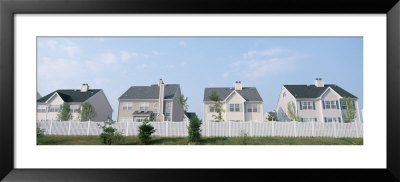 Houses In A Row, Dye Road, Plainsboro, New Jersey, Usa by Panoramic Images Pricing Limited Edition Print image