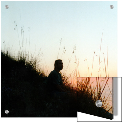 Man Sitting On Hillside At Sunrise by I.W. Pricing Limited Edition Print image