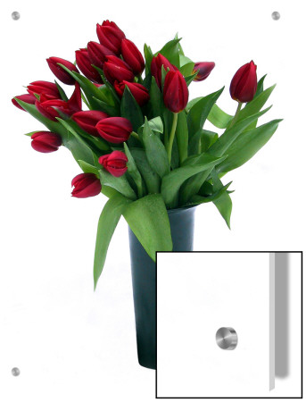 Red Tulips In Grey Vase by I.W. Pricing Limited Edition Print image