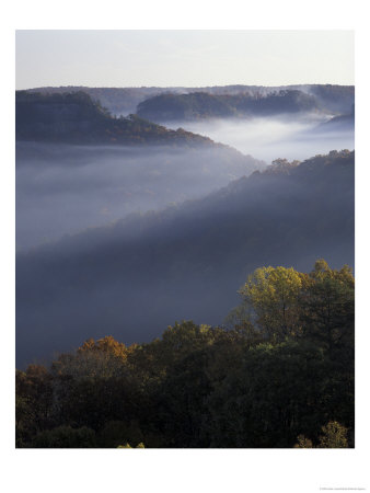 Morning Fog On Ridges Of Red River Gorge Geological Area, Great Smokey Mountains Nat. Park Tennesse by Adam Jones Pricing Limited Edition Print image