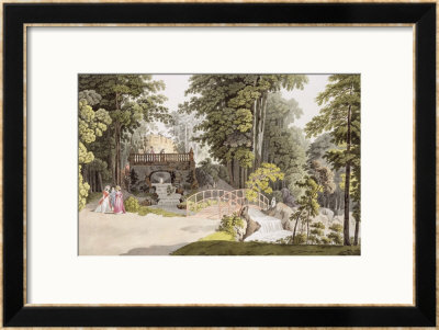 View Of The Cascade At Erlaw, Vienna, From Pleasure Gardens In And Around Vienna by Laurenz Janscha Pricing Limited Edition Print image