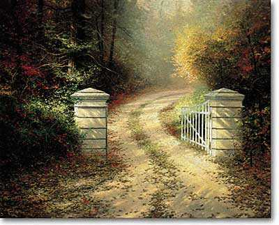 Autumn Gate by Thomas Kinkade Pricing Limited Edition Print image