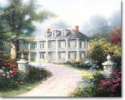 Homestead House by Thomas Kinkade Pricing Limited Edition Print image