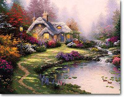 Everetts Cottage by Thomas Kinkade Pricing Limited Edition Print image