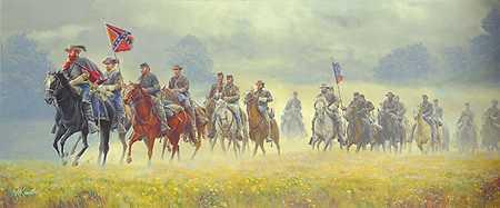 Stuarts Ride by Mort Kunstler Pricing Limited Edition Print image