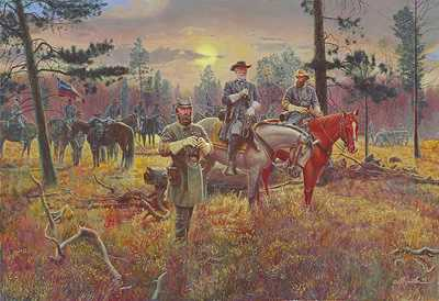 Confederate Sunset by Mort Kunstler Pricing Limited Edition Print image