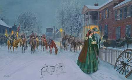 Wayside Farewell by Mort Kunstler Pricing Limited Edition Print image