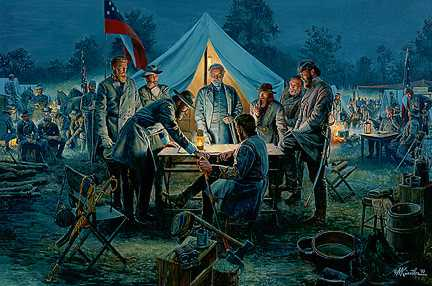 Sharpsburg War Council by Mort Kunstler Pricing Limited Edition Print image
