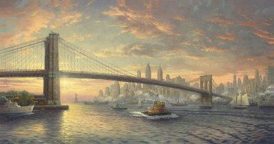 Spirit Of New York - Ap by Thomas Kinkade Pricing Limited Edition Print image