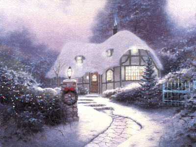Christmas Cottage Ap by Thomas Kinkade Pricing Limited Edition Print image