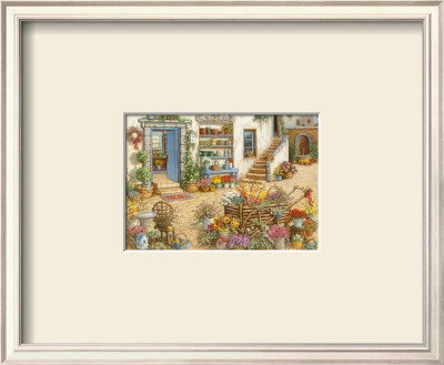 Courtyard Flower Shoppe by Janet Kruskamp Pricing Limited Edition Print image