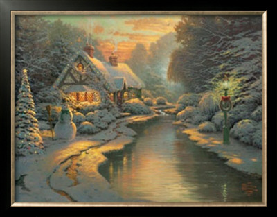 Christmas Evening by Thomas Kinkade Pricing Limited Edition Print image