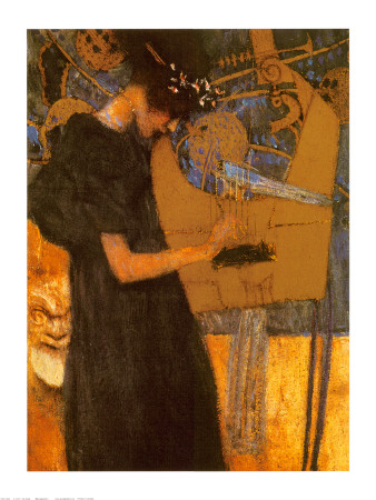The Music by Gustav Klimt Pricing Limited Edition Print image