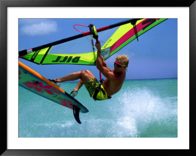 Windsurfing Jumping, Aruba, Caribbean by James Kay Pricing Limited Edition Print image