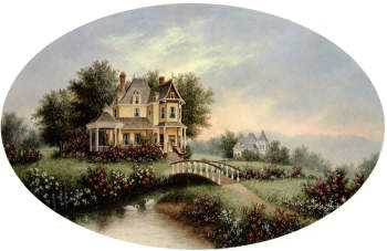 Victorian Country Home by Dennis Patrick Lewan Pricing Limited Edition Print image