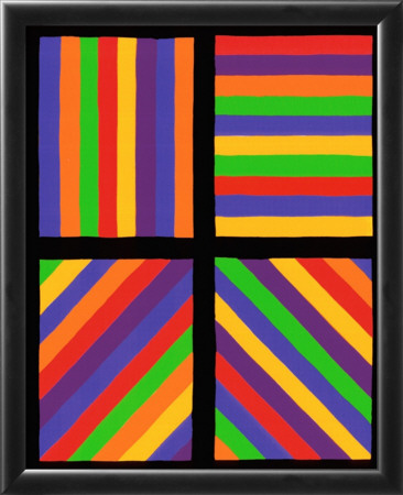 Color Bands In Four Directions, C.1999 by Sol Lewitt Pricing Limited Edition Print image