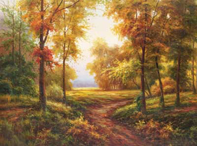 Early Autumn Path by Lazzara Pricing Limited Edition Print image