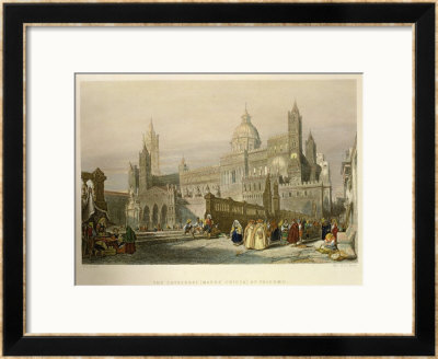 The Cathedral At Palermo, Sicily by William Leighton Leitch Pricing Limited Edition Print image