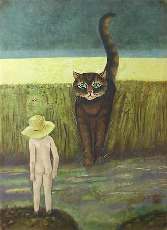 Le Chat Et L'enfant by Stanislas Lepri Pricing Limited Edition Print image