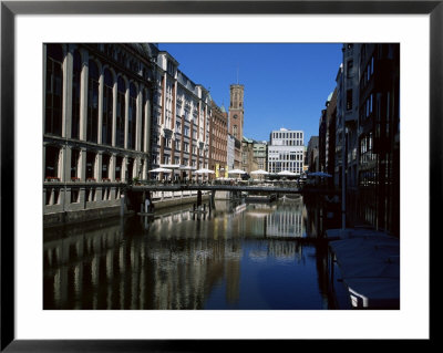 Canal In The Altstadt (Old Town), Hamburg, Germany by Yadid Levy Pricing Limited Edition Print image
