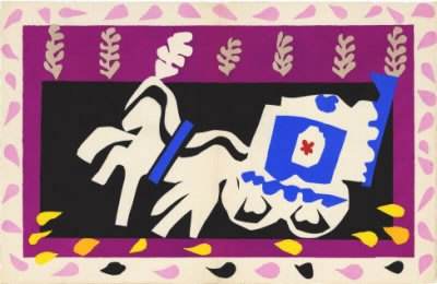L'enterrement De Pierrot  From The Jazz Portfolio, 1947 by Henri Matisse Pricing Limited Edition Print image