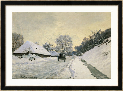 The Carriage, Snow On The Road To Honfleur, With The Farm Of Saint Simon, Circa 1867, 1867 by Claude Monet Pricing Limited Edition Print image