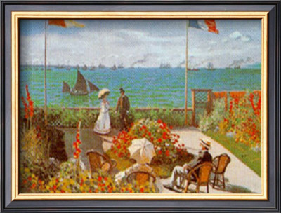 Balcony On The Sea At Saint Adresse by Claude Monet Pricing Limited Edition Print image