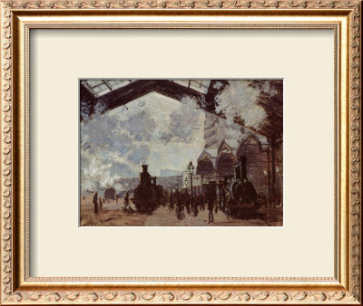 Le Gare St-Lazare, 1877 by Claude Monet Pricing Limited Edition Print image